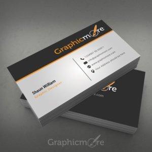 Clean Corporate Business Card Design Free PSD File