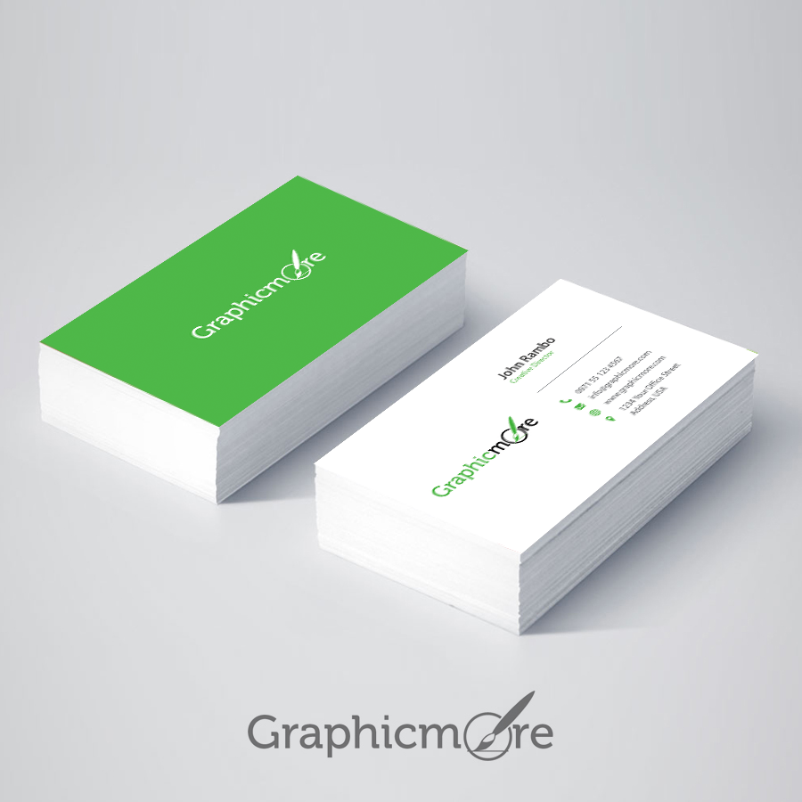300 best free business card psd and vector templates green business card reheart Gallery