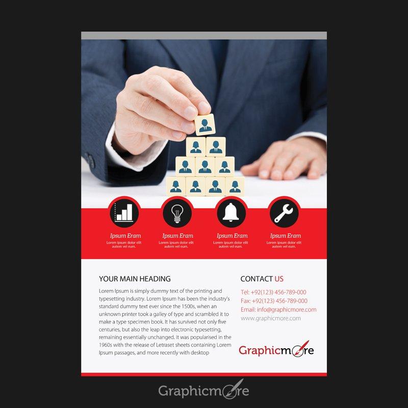 Business Red Flyer Design