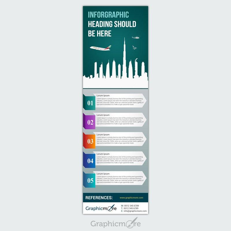 Dubai Infographic Design Free PSD