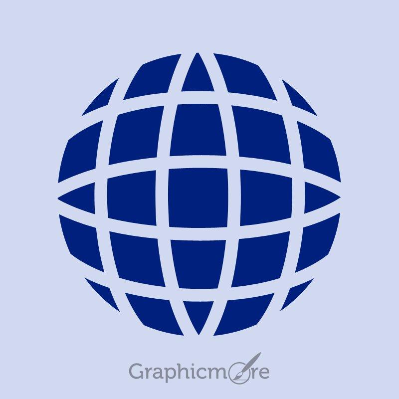 Earth Symbol Icon Design Free PSD File