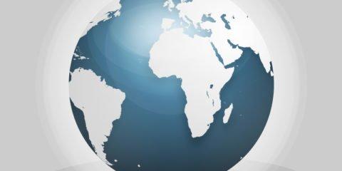 Realistic Globe Design Free PSD File