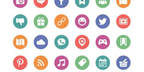 Social Media Circle Icons Design Free Vector File