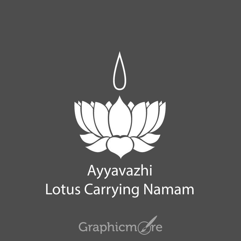 Ayyavazhi Lotus Carrying Namam Symbol Design Free Vector File