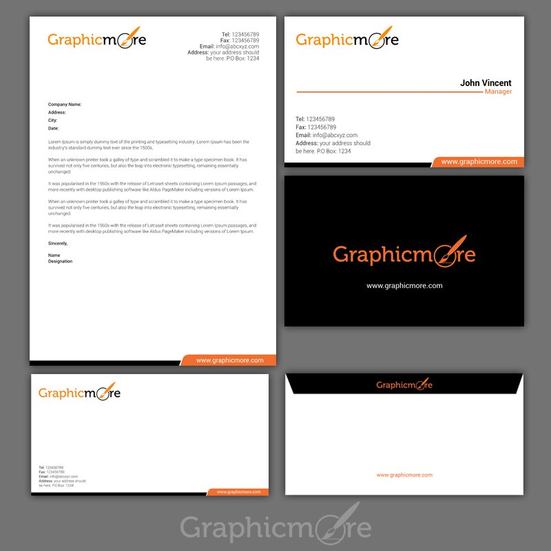 Corporate Psd Letterhead Template Psd File: Clean Corporate Identity Design Free PSD File By GraphicMore