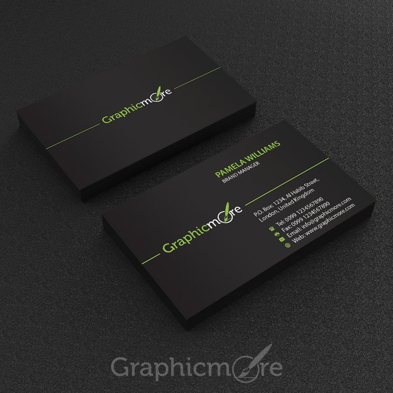 7 best free modern business card psd templates download free black business card template design by graphicmore fbccfo Image collections