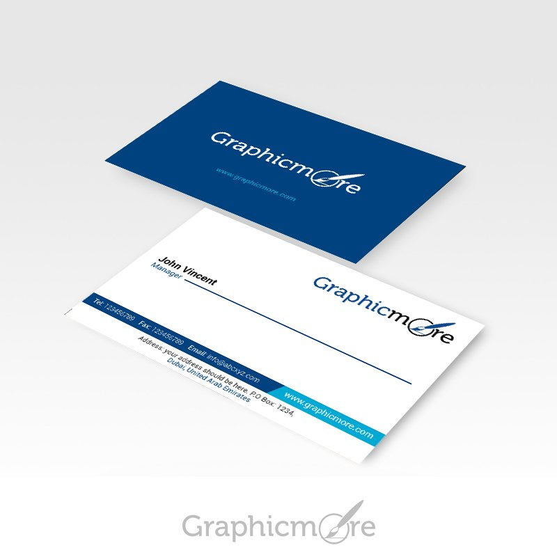 graphic more navy blue business card