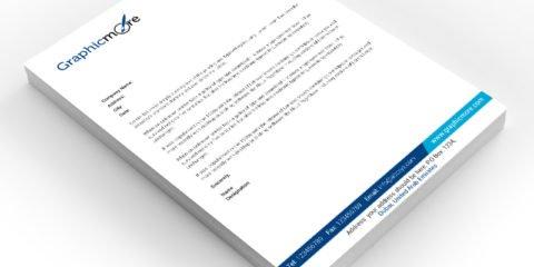 GraphicMore Navy Blue Letterhead Design Free PSD File