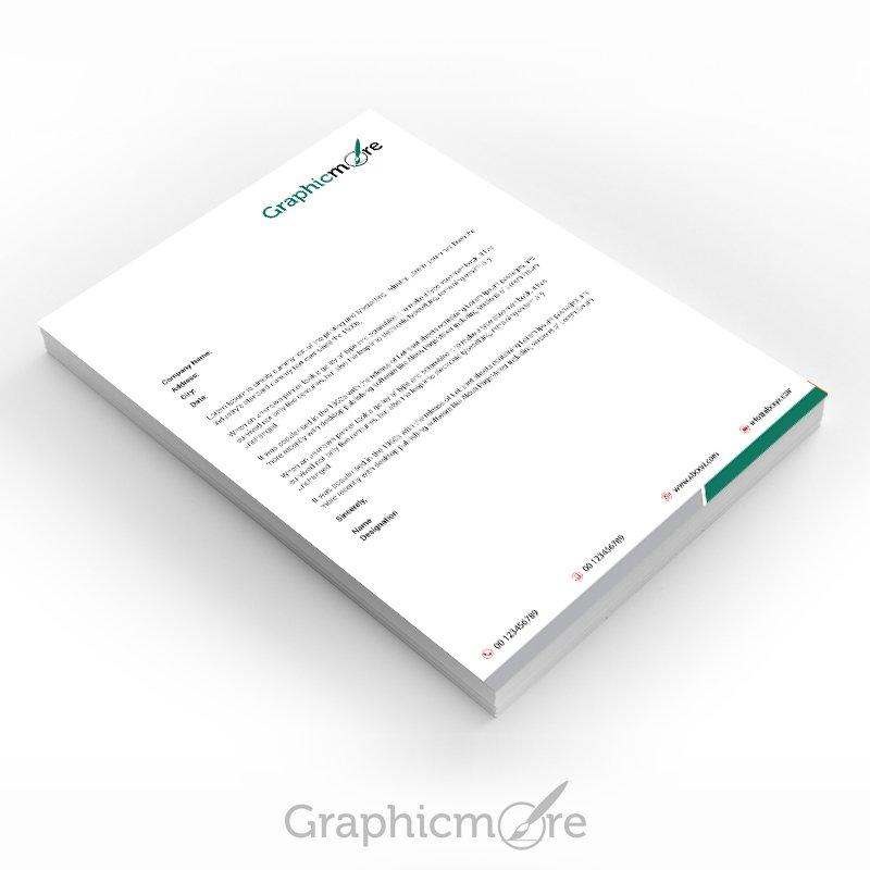 Green Corporate Letterhead Design