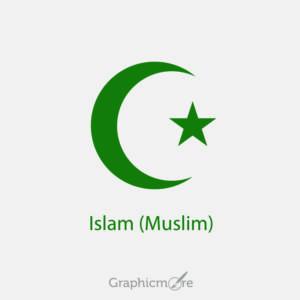 Islam Muslim Symbol Design Free Vector File