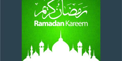 Ramadan Kareem Green Poster Design Free Vector File