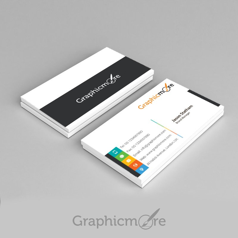 25 best free business card psd templates for 2016 graphicmore vibrant multicolor business card template design free psd file friedricerecipe Images