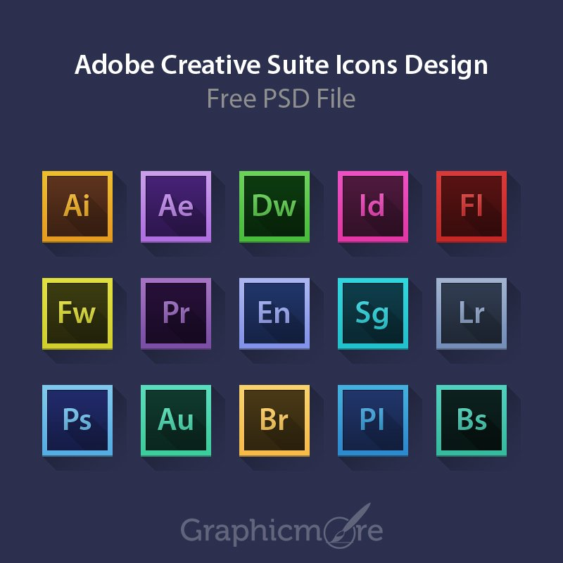 adobe creative suite icons design free psd file download