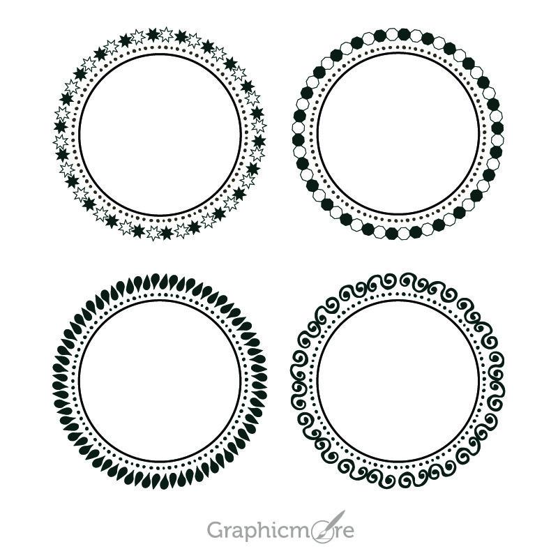 Cute Decorative Shapes Set Design Free Vector File