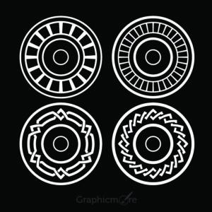 Decorative Circle Shapes Set Design Free Vector File