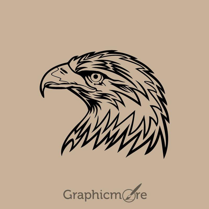 eagle head design free vector download by graphicmorw