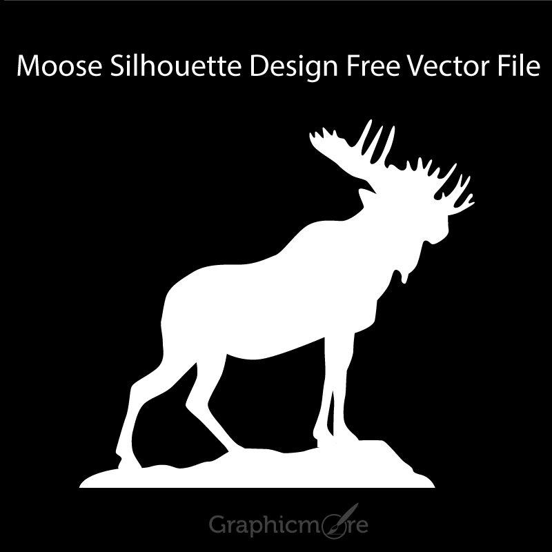 Moose Silhouette Design Free Vector File