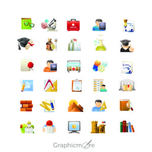 35 Best Education & Science Icons Design Free Vector File