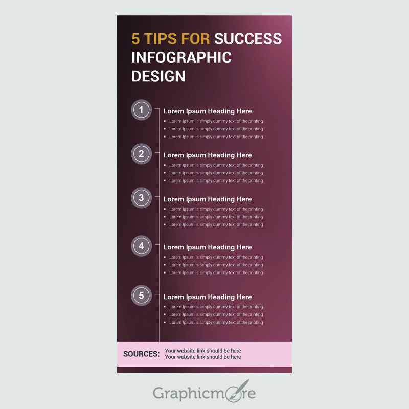 5 Tips for Success Infographic Design Free PSD File by ...