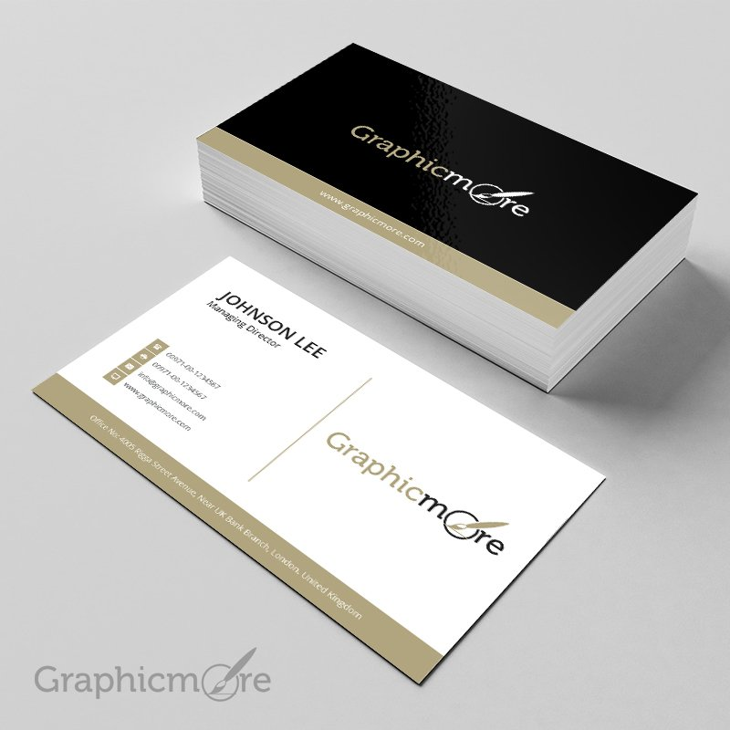 300 best free business card psd and vector templates black gloden creative business card cheaphphosting Image collections