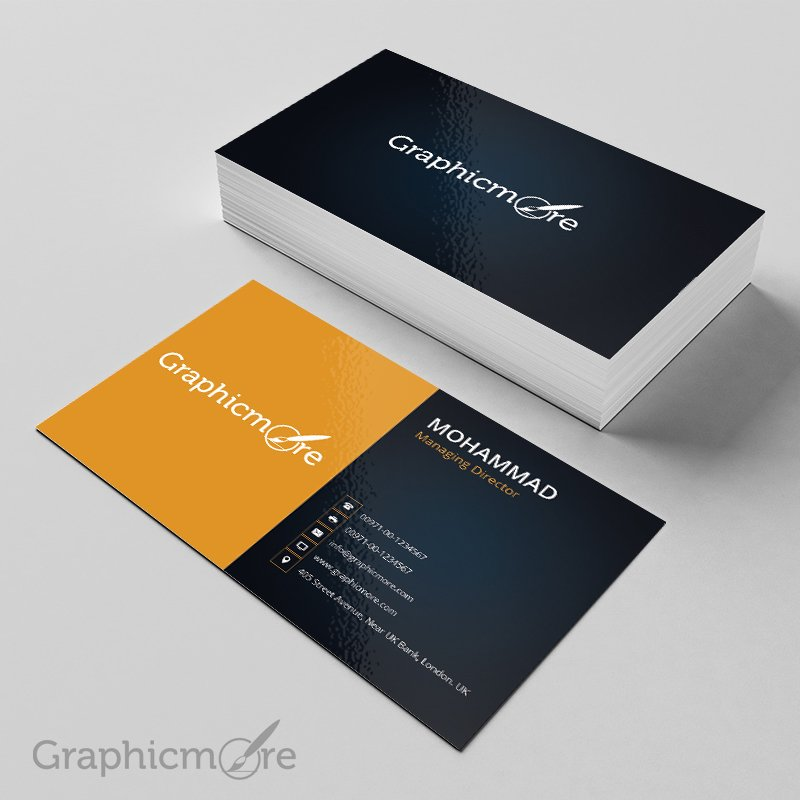 black  u0026 yellow business card template  u0026 mockup design free