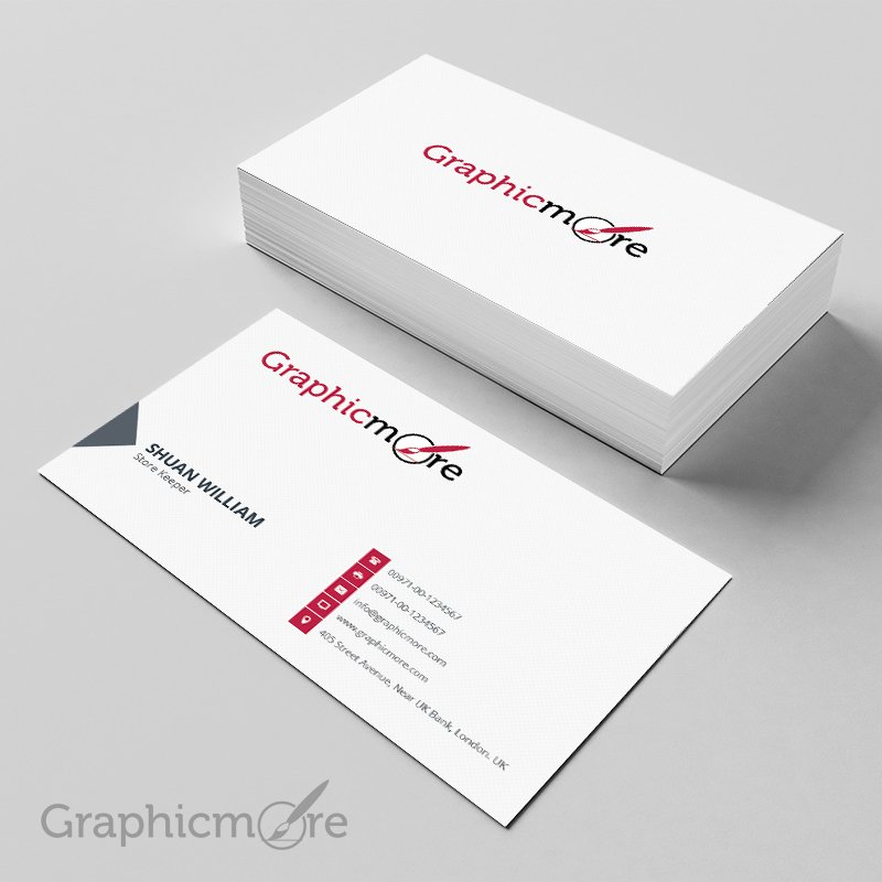 300 best free business card psd and vector templates clean corporate vintage business card friedricerecipe Gallery