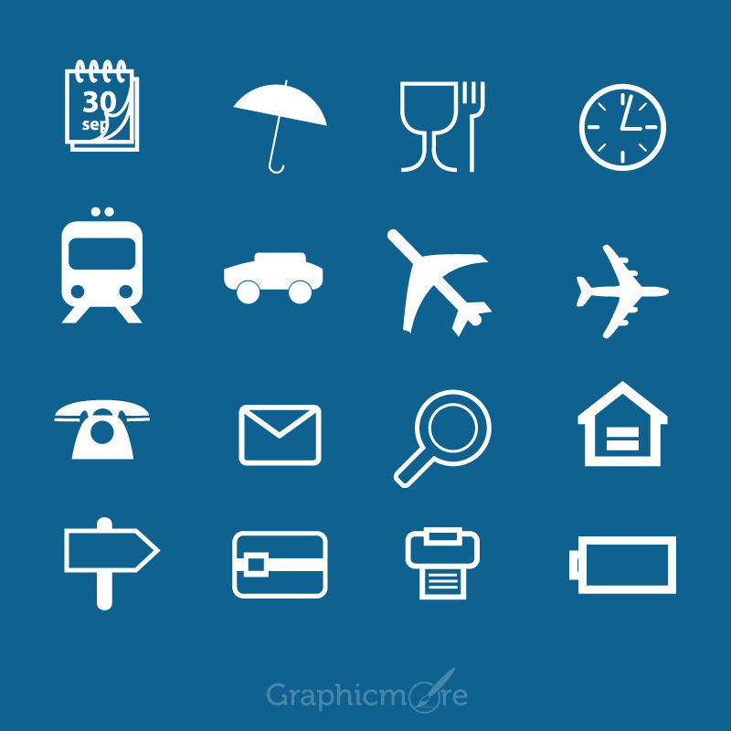 free vector travel icons set design download by graphicmore