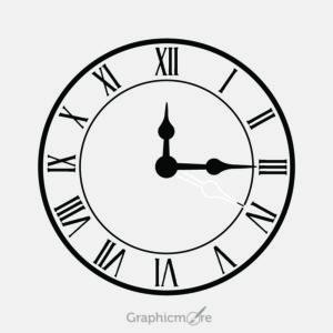 Vintage Clock Design Free Vector File
