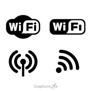 Wifi Logo Icons Set Design Free Vector File