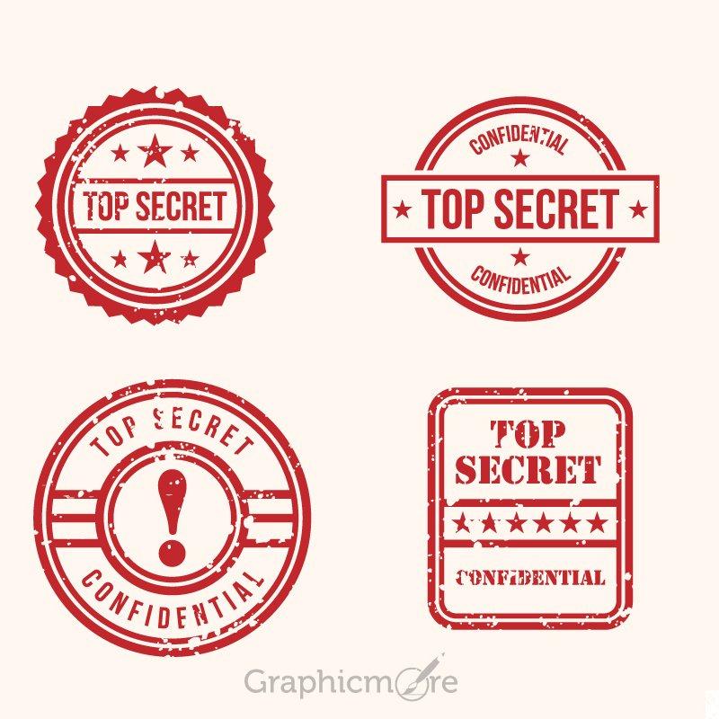Top Secret Stamps Design Free Vector File