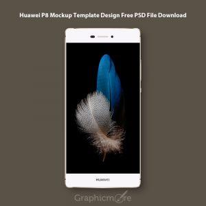 Huawei P8 Mockup Template Design Free PSD File Download