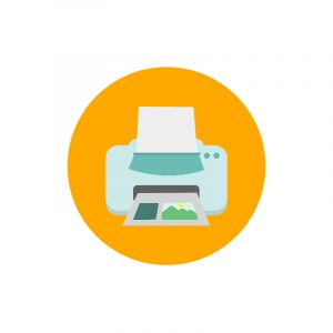 Printer Icon Design Free PSD Download