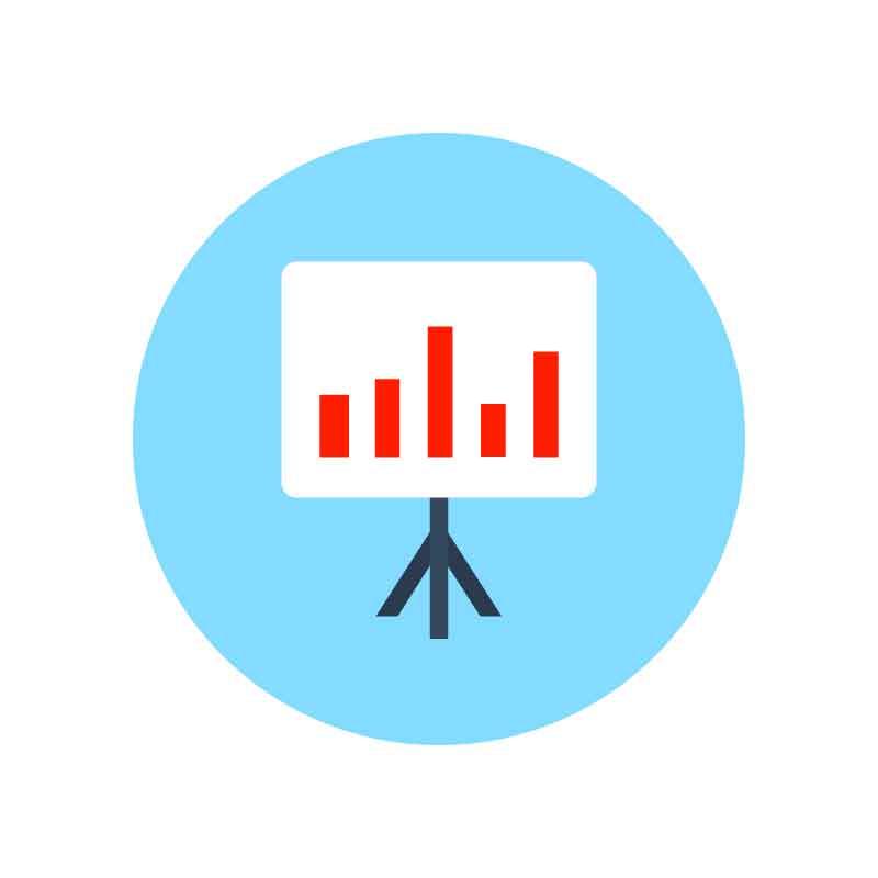 Analytics Graph Infographic Icon Design Free Vector