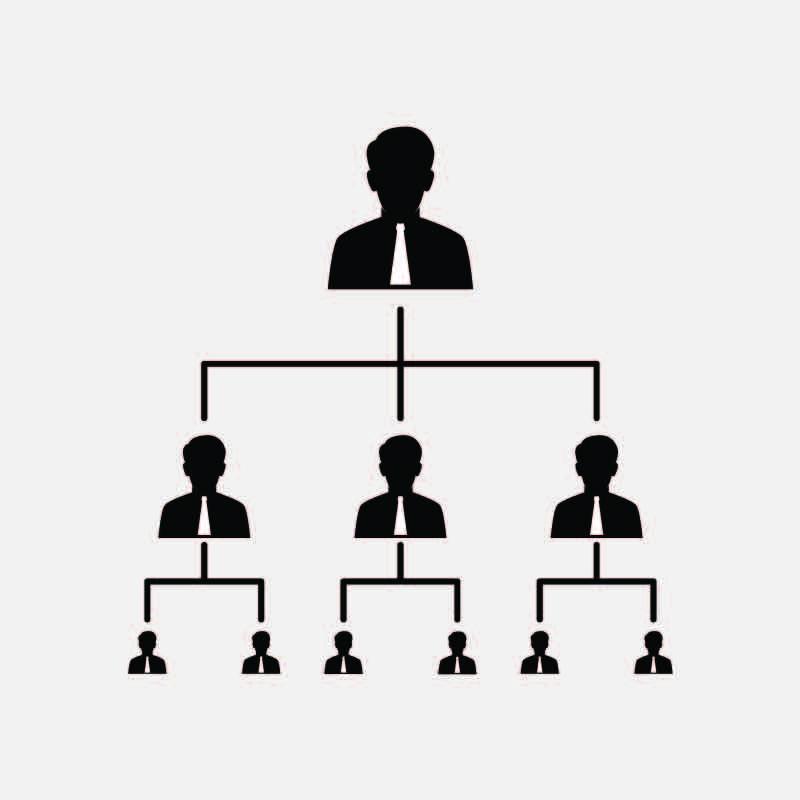 Download Free Business Organization Chart Icon Design