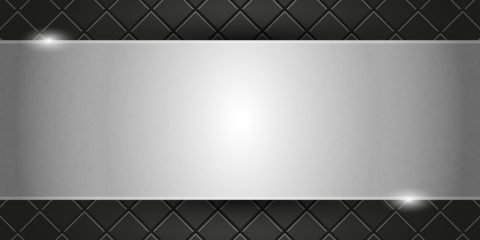 Metal Plate on Black Background Design Free Vector