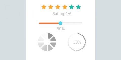 Client Rating Templates Set Element Design Free PSD Download