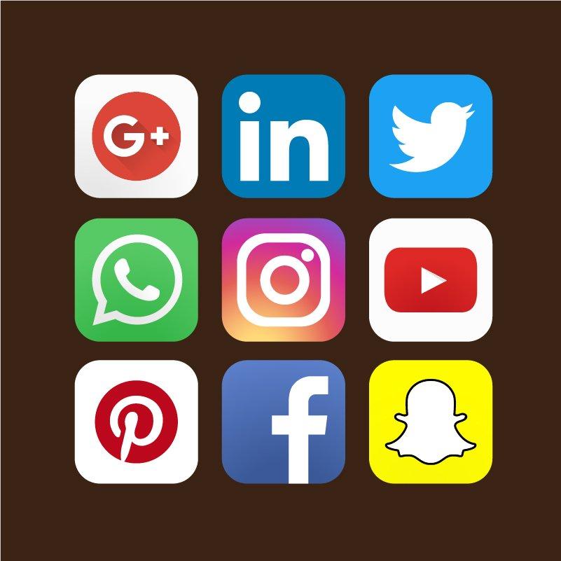 Graphic Designer Logo Templates Pack: 9 Social Media Marketing Pack Icons Design Free Vector File