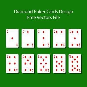 Diamond Poker Cards Design Free Vectors Files